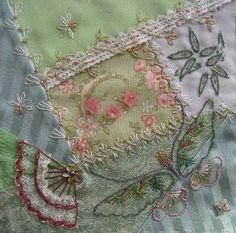 I ❤ crazy quilting, beading & embroidery . . . Tradewinds DYB: Cheryl's block- ~By Hideko Ishida