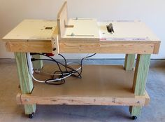 Woodworking Tutorial Diy Portable 3 In 1 Workbench Table Saw Router