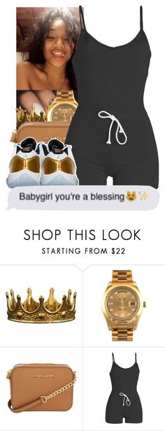 """""""Untitled #187"""" by jezellee ❤ liked on Polyvore featuring Seletti, Rolex, Michael Kors and WithChic"""
