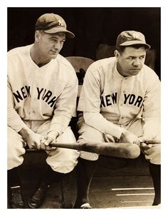 Babe & Lou Prepare For Battle In Chicago 81 Years Ago Today - Comiskey Park - June 15, 1932 The Yankees needed more than those stern looks to gain a victory as they lost to the White Sox 2-1. New York's only run was from Lou's 14th HR. Boxscore: 6/15/1932 - ChiSox 2 - NYY 1
