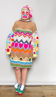 Katie Jones Knitwear - This knitted sweater is crazy and scarry.