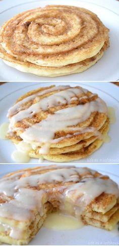 Cinnamon Roll Pancakes - My Honeys Place
