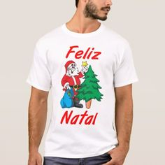"Masculine t-shirt ""Happy Christmas ' - click to get yours right now!"