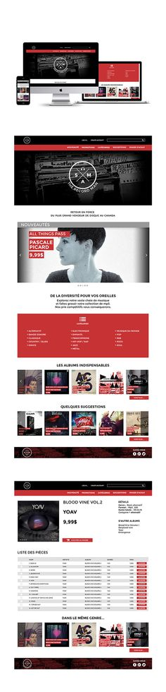 Sam the record man | Site e-commerce on Behance