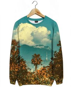 The Palm as All-Over Print Sweatshirt by Pale Grain | JUNIQE