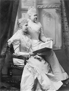 Royal sisters: Princess Marie of Hanover (1849-1904) and Baroness Alfons von Pawel-Rammingen (1848-1926) née Princess Friederike of Hanover