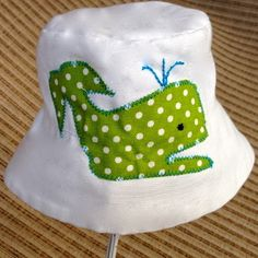 Children's Unisex Preppy Whale Hat - Sizes from birth to teen!