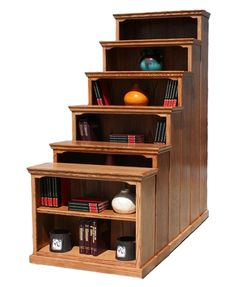 "OD Traditional Oak Bookcases 24"" W, 13"" D in heights 30"" - 84"""