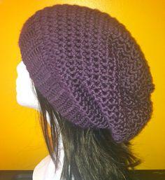 Unisex Slouchy Beanie  Men Women Boys and Girls Crochet by Caheez, $24.50