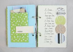 journaling ideas and insturctions on how to make mini envelopes - great for fun journaling pages