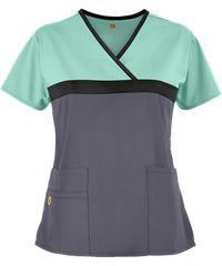 Wonderwink Scrubs Origins Tri-Charlie Mock Wrap Top - S Scrubs Outfit, Scrubs Uniform, Scrub Suit Design, Cute Nursing Scrubs, Healthcare Uniforms, Nursing Uniforms, English Dress, Scrub Jackets, Scrub Pants