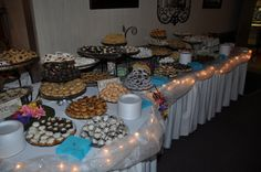 One of our Wedding Cookie Tables ~ Cookie Bar Wedding, Wedding Cookies, Wedding Favors, Our Wedding, Wedding Ideas, Wedding Inspiration, Cookie Swap, Cookie Bars, Cookie Display