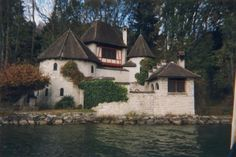 The Carl Gustav Jungs house along the shore of Lake Zurich, in Bollingen.