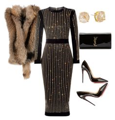 """Untitled #217"" by sanchez-drummond ❤ liked on Polyvore featuring Christian Louboutin, Giuseppe Zanotti, Balmain, Yves Saint Laurent and Vince Camuto"