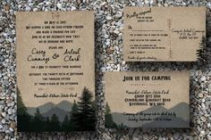 Custom Woodsy Wedding Invitation Digital File by SocialStationery