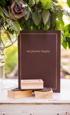 where will your journey take you?  wedding guest book, destination wedding, wanderlust, travel, stamp guest book