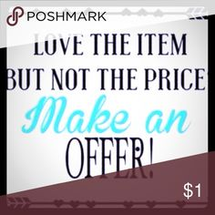 🎉🎉Please make an offer🎉🎉 Love the item... Not the price!!   Make an OFFER!!🎉🎉🎉 Other
