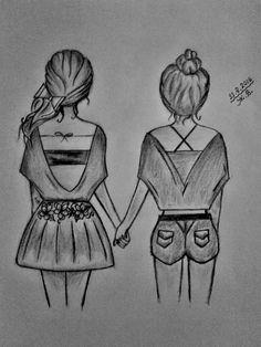 Easy Pencil Drawings, Sad Drawings, Girl Drawing Sketches, Art Drawings Beautiful, Girly Drawings, Sketchbook Drawings, Art Drawings Sketches Simple, Disney Drawings, Girl Drawing Easy