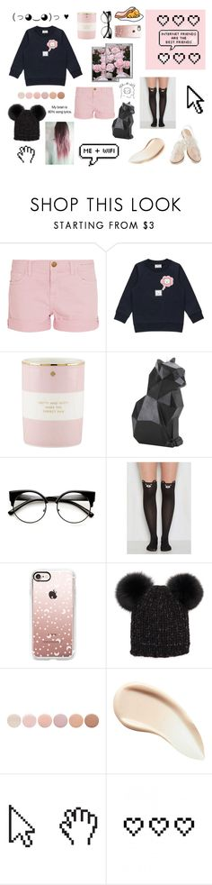"""""""Internet friends are the best friends lol no offense Irl friends"""" by lazy-luna ❤ liked on Polyvore featuring Current/Elliott, Acne Studios, Kate Spade, Hot Topic, Pointer, Rachel Antonoff, Casetify, Eugenia Kim, Deborah Lippmann and Burberry"""