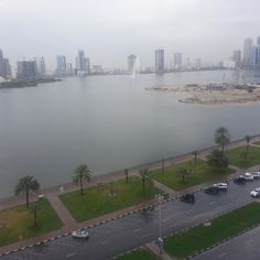 That's what you see outside my window. Buhaira Corniche, sharjah