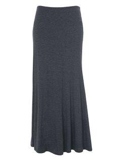 Reversible soft jersey maxi skirt