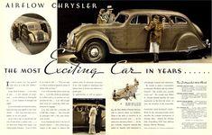 Directory Index: Chrysler & Chrysler Chrysler Airflow, Chrysler Cars, Chrysler 300, Diesel, Car Brochure, American Auto, Chrysler Imperial, Car Illustration, Old Ads