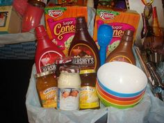 Sundae gift basket. Sorry, doesn't link to a website.