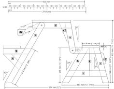 folding picnic table front elevation plan
