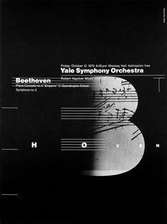 womenofgraphicdesign: Inge Druckrey (Connecticut) Yale Symphony Orchestra poster, 1979 Keep reading   VISUALGRAPHC