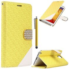 Note 3 Case,Galaxy Note 3 Case - ULAK Maze Pattern PU Leather Wallet Case for Samsung Galaxy Note 3 Note III N9000 w/Screen Protector and Stylus (Yellow) ULAK http://www.amazon.com/dp/B00O0KSS1E/ref=cm_sw_r_pi_dp_fxGkub01FHCWX