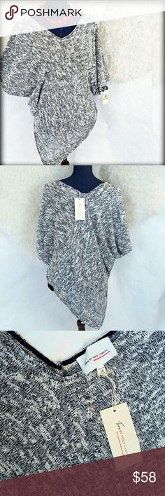 🚨LAST ONE🚨NWT L/XL VC Asymmetric Poncho Sweater Almost GONE. Two by Vince Camuto L/XL marled asymmetrical poncho top. I have this top in my personal closet and just Adore it! Equally fabulous with leggings to lounge in or dressed up with heeled booties & jewelry for a night out. An eye catching Gray, off-white & black. Great with skinny jeans! NEW w/ tags. PLEASE Note: SIZE L/XL, since this is not an option, I chose XL. relaxed fit, IMO. I am a M/L & could wear either a S/M (in my closet)…