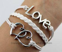Love Bracelet,Heart bracelet, charm bracelet,double heart bracelet, blessed gift, gift to bestfriend, friendship,bridesmaid ,christmas gift by alicemarket, $3.99