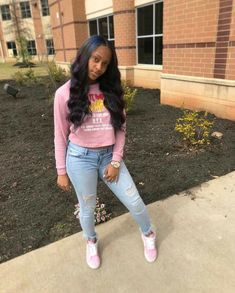 for more popping pins add Baddie Outfits For School, Swag Outfits For Girls, Cute Outfits For School, Cute Swag Outfits, Dope Outfits, Trendy Outfits, Kids Outfits, Boujee Outfits, Freshman Outfits