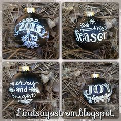 chalk ornaments