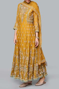 Designer Suits - Buy Saesha Suit for Women Online - - Anita Dongre Pakistani Bridal Dresses, Pakistani Dress Design, Pakistani Outfits, Bridal Anarkali Suits, Kurta Designs, Kurti Designs Party Wear, Indian Wedding Outfits, Indian Outfits, Indian Attire