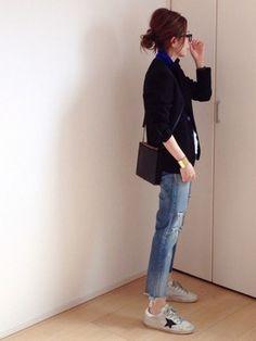 mayumi│Shinzoneのテーラードジャケットコーディネート