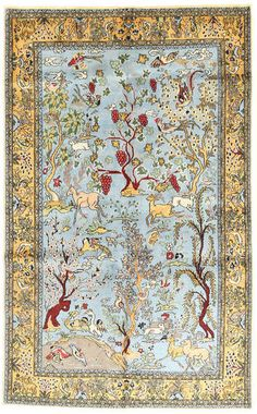 Sarough Oriental carpets are made in western Iran. These Persian carpets usually feature a central medallion and floral motifs. Iranian Rugs, Iranian Art, Persian Carpet, Persian Rug, Carpet Cover, Planets Wallpaper, Patterned Carpet, Bedroom Carpet, Delena