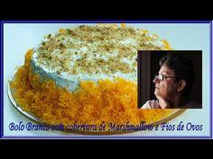 Bolo Branco com Cobertura de Marshmallow e Fios de Ovos - YouTube