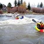 river Kayaking is awesome!, always remember don't hesitate when you come to rapids, just go for it, I plow right through!
