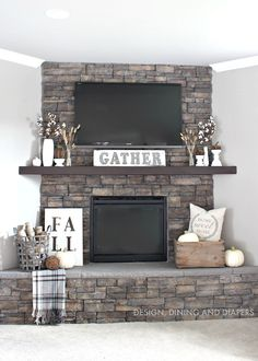 Rustic Fall Mantel!