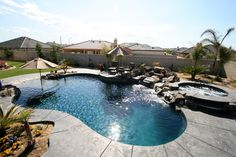 Custom Pool and Spa Gallery – Paradise Pools and Spas – Bakersfield