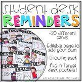 Student Desk Reminde