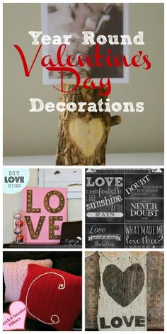 Here are 5 DIY  Valentine's Decorations that you can make and leave up year round