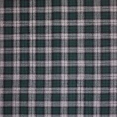 Green/Black/Gray Tartan Plaid Cotton Flannel