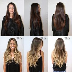 Image result for stunning brown to blonde transformations