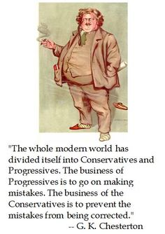 GK Chesterton on why Conservatives need always be busy.