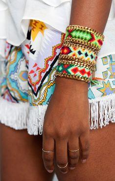 Kim Zozi ~ Green Chain 100 Bracelet | Accessories for women