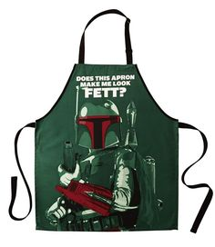 Star Wars Boba Fett Apron And Tong Set Boba Fett Mandalorian, Star Wars Boba Fett, Star Wars Outfits, Star Wars Merchandise, Celebrity Stars, The Force Is Strong, Star Wars Gifts, Geek Out, Star Wars Art