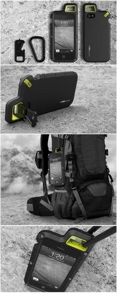 PUREGEAR PX360 - a case to do something extreme  PureGear approached Pip Tompkin Studio to create series of mobile accessories and a product brand strategy for a difficult and oversaturated market. Together with the Pure Gear team Pip Tompkin Studio, identified a number of business opportunities. One opportunity was the need for a well-designed ruggedized product. The PX360 is a rugged case for people with extreme occupations and lifestyles.