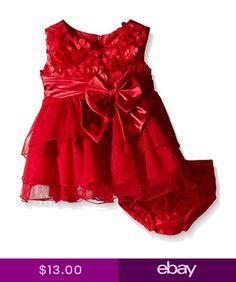 53811d15fc06c6 Bonnie Jean Baby Girls Bonaz Hi-Low Christmas Santa Red Dress 12 18 24  Months